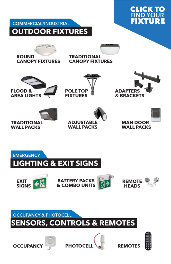 AWESOME LIGHTING  INSIDE COMMERCIAL INDUSTRIAL  INDOOR FIXTURES  MONOPOINT HIGH BAYS  VAPOR PROOF LINEAR FIXTURES  RETROFI...